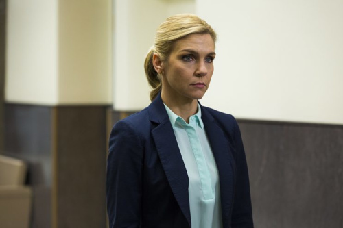 Rhea Seehorn as Kim Wexler, Michael McKean as Chuck McGill and Patrick Fabian as Howard Hamlin in AMC's Better Call Saul. (Photo: Michele K. Short/AMC/Sony Pictures Television)
