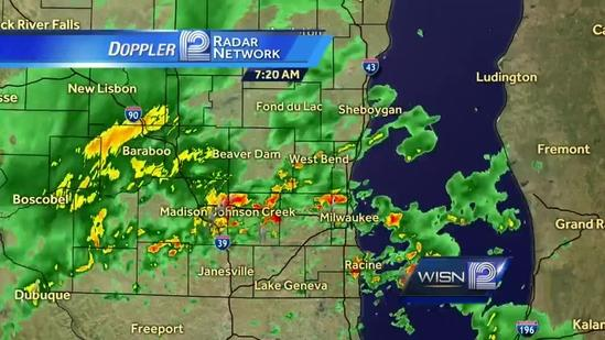 Strong storms expected over the lunch hour Sunday