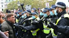 Police clash with anti-lockdown protesters in central London