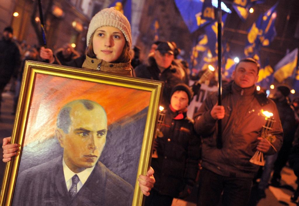 Historians think Stepan Bandera believed that Hitler would grant Ukraine independence or at least partial autonomy once the Nazis conquered Moscow (AFP Photo/Genya Savilov)
