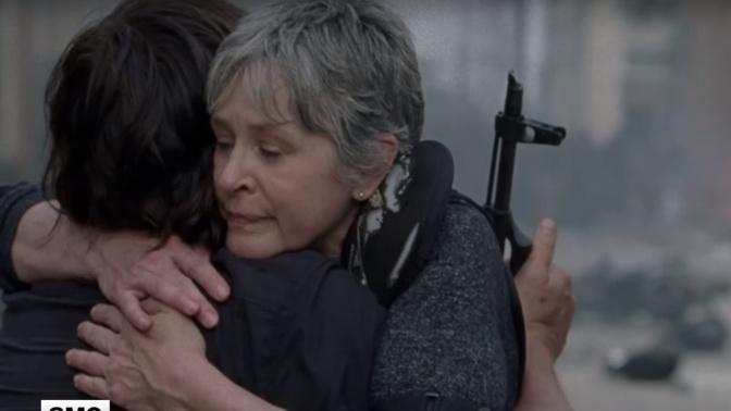 Walking Dead s8 clip is emotional Carol & Daryl moment