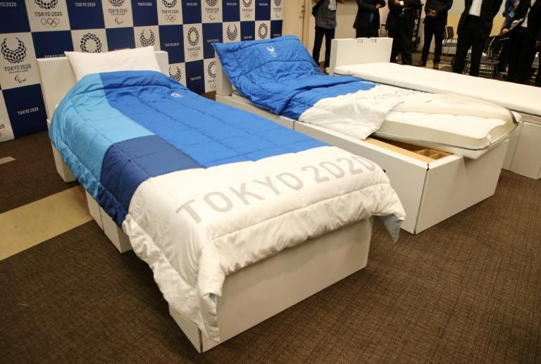 Olympic competitors will sleep on beds made from cardboard at the Tokyo Games