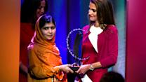 Watch: Malala Hillary 2016 nod in CGI award speech