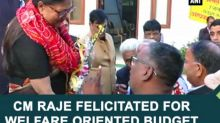 CM Raje felicitated for Welfare Oriented Budget