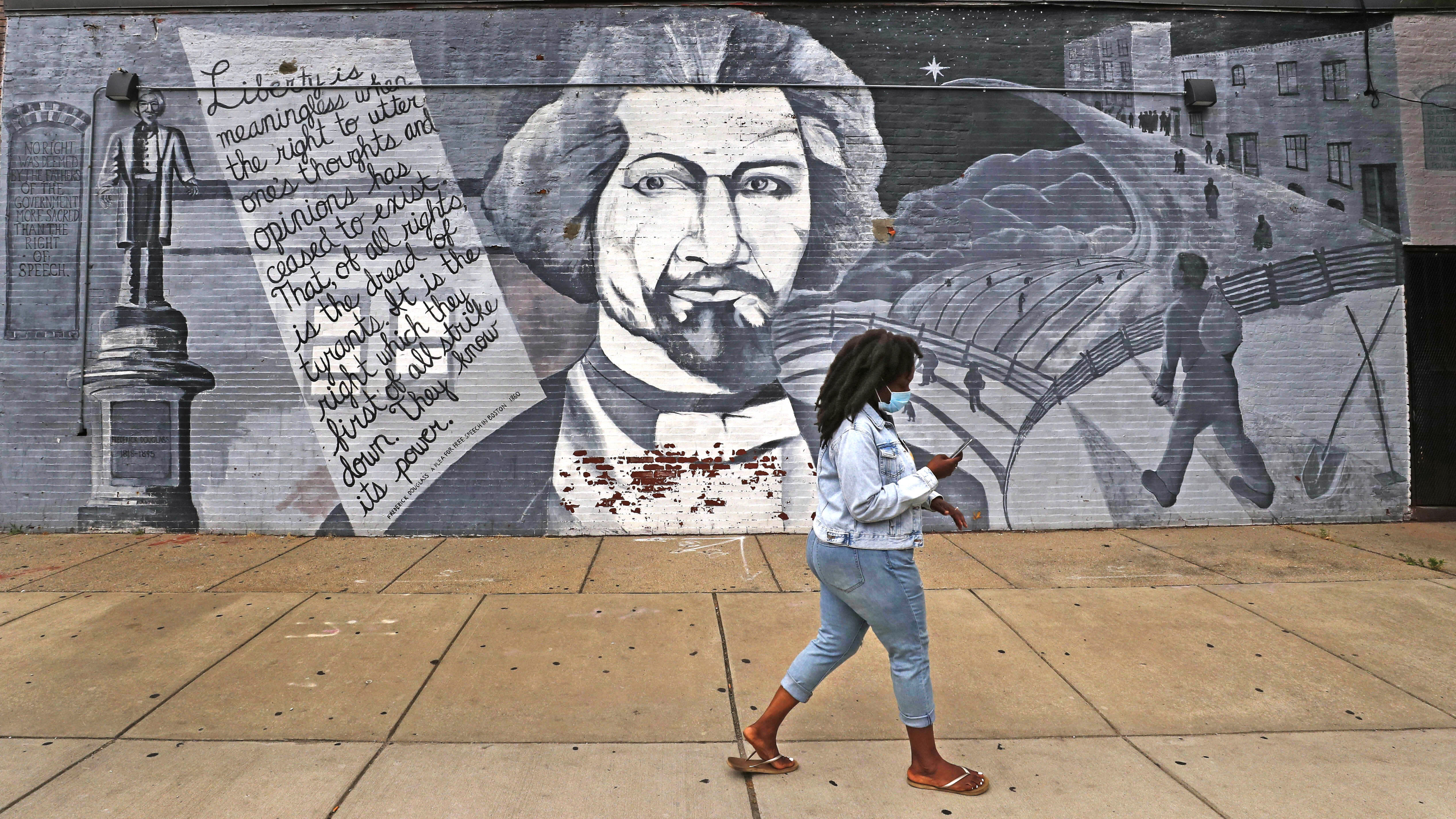 Frederick Douglass statue vandalized in Rochester park