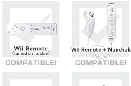 Four different controller options for Super Smash Bros.