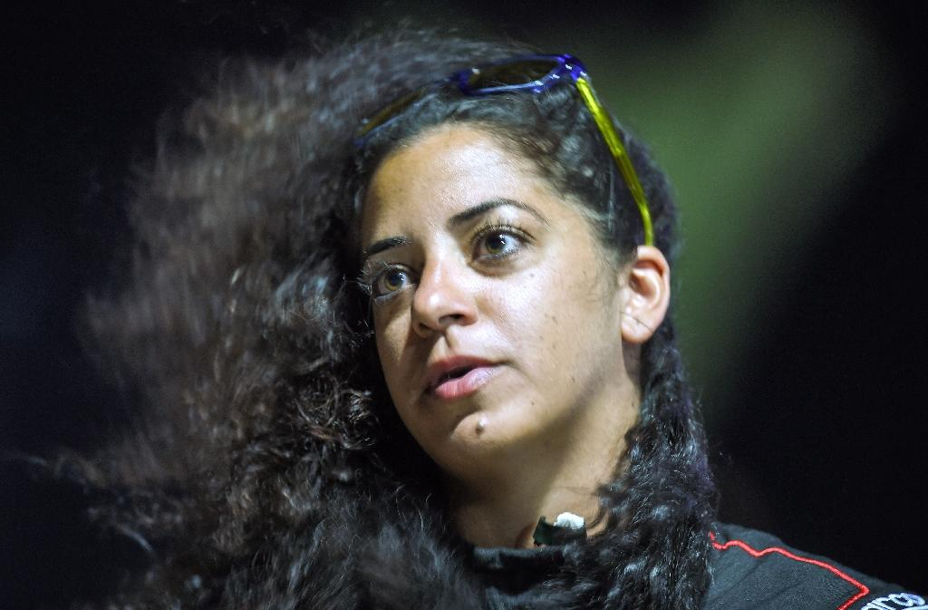 Palestinian racer Noor Daoud was the only woman to compete at the drift competition in Sharm el-Sheikh (AFP Photo/Mohamed el-Shahed)