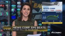 News Corp beats revenues and earnings