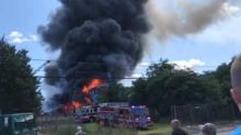Firefighters Work to Control Blaze From Multi-Alarm Fire in Paterson