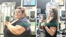 Após perder mais de 100 quilos, mulher recria fotos da época em que era gordinha