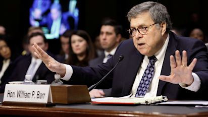 Barr 'can conceive of' jailing journalists