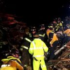 Dramatic rescue after early morning mudslide leaves California woman trapped