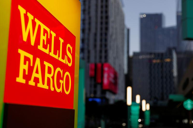 FILE PHOTO: A Wells Fargo ATM machine in Los Angeles California