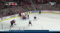 Jonas Hiller reacts in time to stone Chimera