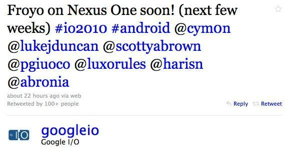 Android 2.2 coming to Nexus One, open source community 'in the coming weeks'