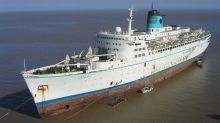 What happens when a cruise ship is sent to be scrapped?