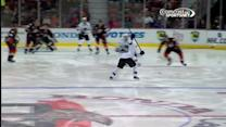 Dan Boyle blasts one past Hiller on the PP