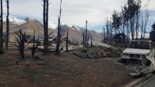New Zealand firefighters beating forest blaze
