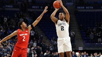 Penn State beats No. 4 Maryland, fans storm court