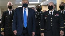 Trump finally dons mask as global infections gather pace