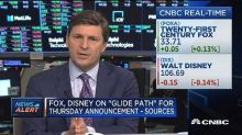 Fixed ratio of Disney shares for Fox assets -Sources