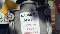 Californians protesting cuts to food stamp program