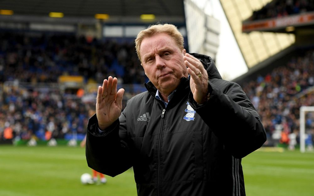 Harry Redknapp acknowledges the home crowd after Birmingham's 2-0 victory over Huddersfield - Getty Images Europe
