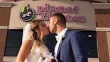 This Couple Got Married at Planet Fitness