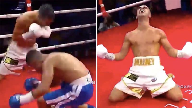 Aussie boxer seals world title shot with 'savage KO'