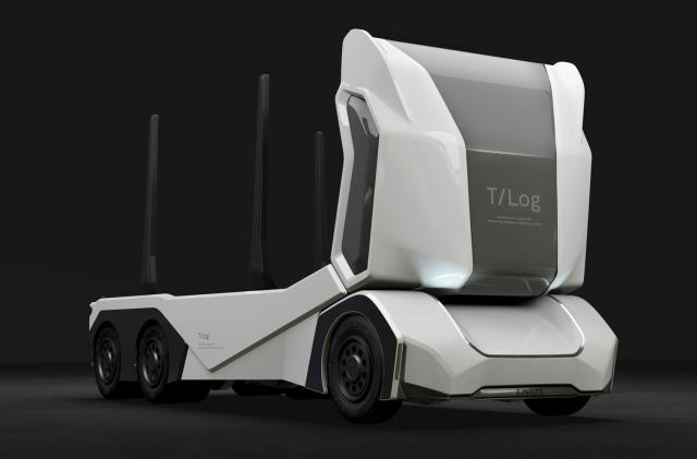 Einride debuts a funky-looking autonomous logging truck