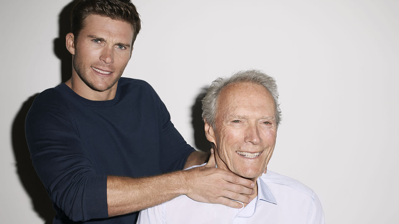 Clint Eastwood Poses W...