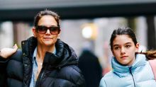Suri Cruise and Katie Holmes Do Mother-Daughter Dressing in Athleisure & Simple Sneakers