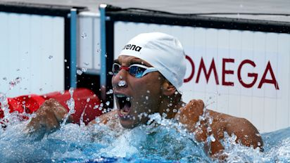 Tunisian swimmer pulls off shocking upset
