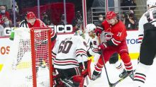 Streaking Hurricanes host Blackhawks in home finale