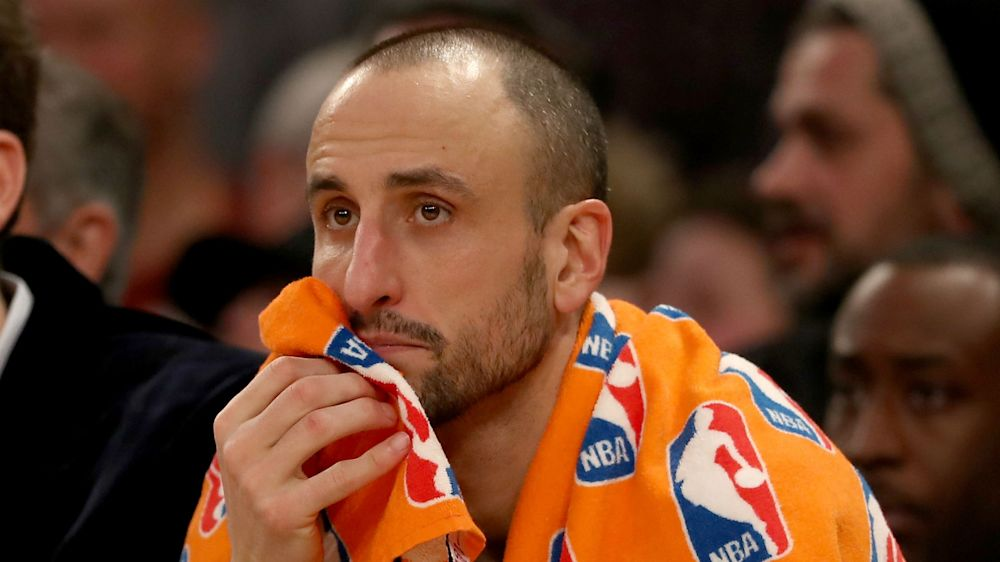 Manu Ginobili attempts to miss foul shot, instead makes absurd free throw