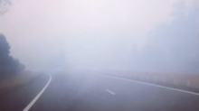 Smoke Shrouds Roads as Fires Rage on Mid-North New South Wales Coast