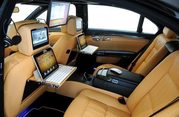 Brabus iBusiness luxury sedan puts an iPad at every seat, a Magic Mouse at every hide-covered armrest