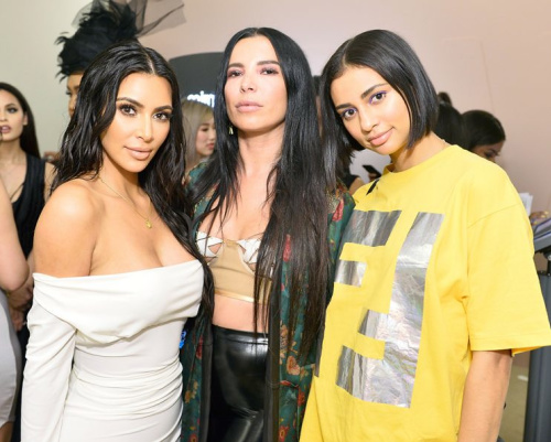 Kim Kardashian West, Aureta Thomollari and Kristen Noel Crawley celebrate The Launch Of KKW Beauty on June 20, 2017 in Los Angeles, California