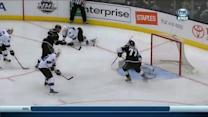 Dwight King sets up Jeff Carter to score