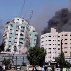 Missile strike destroys AP, Al Jazeera Gaza offices