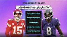 Should I pick Patrick Mahomes or Lamar Jackson in my fantasy football draft?