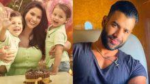 Andressa Suita posa com filhos e ganha comentário apaixonado de Gusttavo Lima