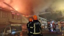 Dozens of firefighters deployed to put out massive fire in Geylang