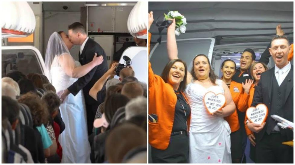 Couple who met at Sydney Airport get married on Jetstar flight