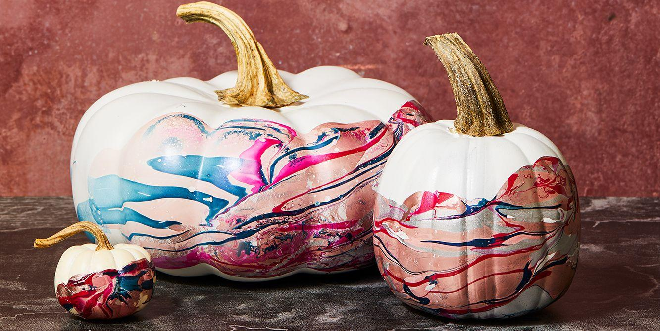It's Surprisingly Easy to Make Marble Pumpkins With Nail ...