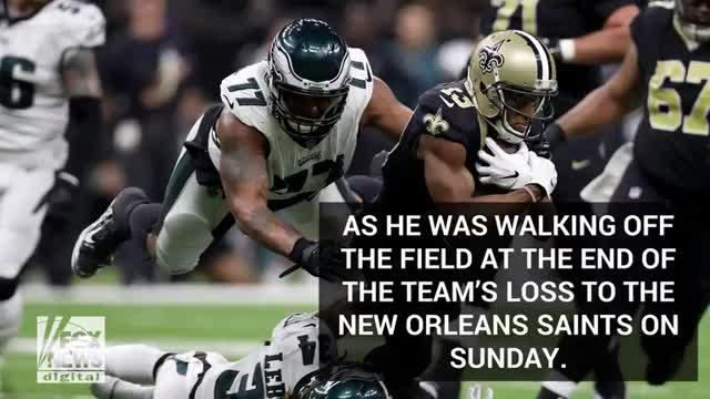 0425adc0c Caught on tape  Philadelphia Eagles  star Michael Bennett apparently angry  at cameraman after loss to New Orleans  Video