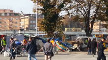 Police Clear Migrant Camp Near Rome Train Station