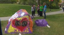 Painted protests: U of C's The Rocks get multiple message makeovers
