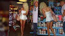 Courtney Stodden Wears Sky-High Heels to Shop at a Kid's Store