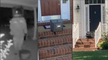 Surveillance video shows 'TV Santa Claus' leaving old TV sets on porches throughout neighborhood